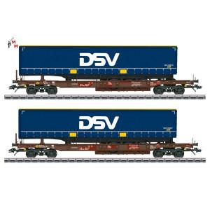 (Neu) Märklin 47111 Taschenwagen-Set der AAE Cargo AG, DSB, Ep.VI,
