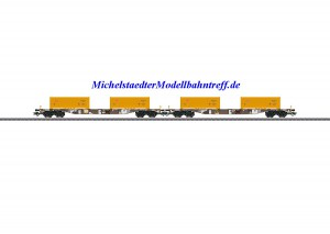 """(Neu) Märklin 47130 Containertragwagen-Set """"Erdaushub Stuttgart 21"""","""