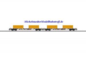 """(Neu) Märklin 47131 Containertragwagen-Set """"Erdaushub Stuttgart 21"""", (geänderte Betriebsnummer),"""