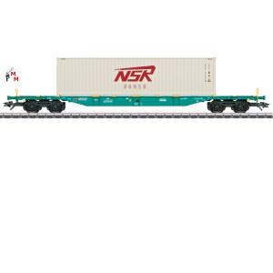 (Neu) Märklin 47135 Containertragwagen, SNCB, Ep.VI,