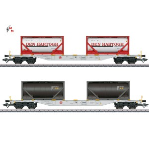 "(Neu) Märklin 47137 Containerwagen-Set ""Den Hartogh"", Ep,VI,  Ep. VI,"