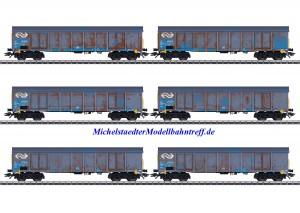 (Neu) Märklin 47189 Hochbordwagenset, der NS Cargo, gealtert, Ep.V,