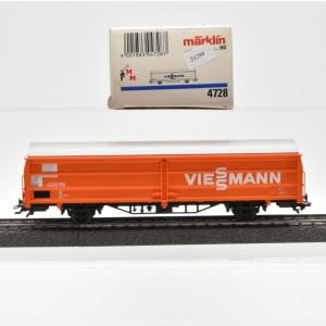 """Märklin 4728 Ged. Schiebewandwagen der DB, """"Viessmann"""", (21294)"""
