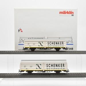 """Märklin 47348 Doppel-Schiebewandwagen """"Schenker"""" der ÖBB, (22585)"""