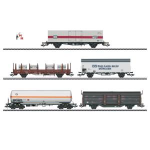 (Neu) Märklin 47370 Güterwagen-Set zur BR 194, 5 Wagen, DB, Ep.IV,