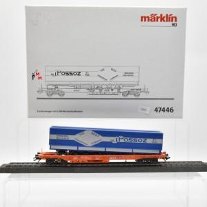Märklin 47446 Taschenwagen mit LKW-Wechselaufbauten, (22623)