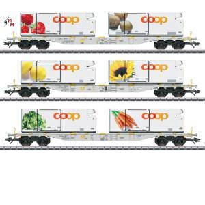"(Neu) Märklin 47461 Containerwagen-Set ""Coop"", Ep.VI,"