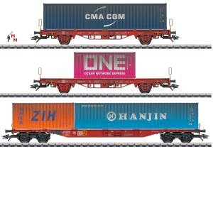 (Neu) Märklin MHI 47580 Container-Tragwagen-Set DB AG, Ep.VI,