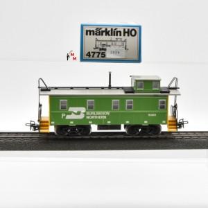 """Märklin 4775 US-Caboose Wagen """"Burlingon Northern"""", (21116)"""