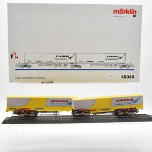 Märklin 48040 Doppel-Einheit Kombirail Sattelauflieger, (22567)