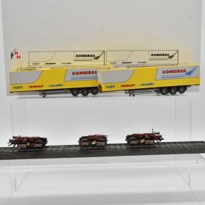Märklin 48040 Doppel-Einheit Kombirail Sattelauflieger, (22586)