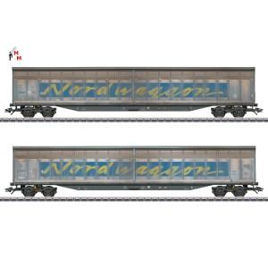 "(Neu) Märklin 48065 Schiebewandwagen-Set, ""Nordwaggon"", Ep. VI,"