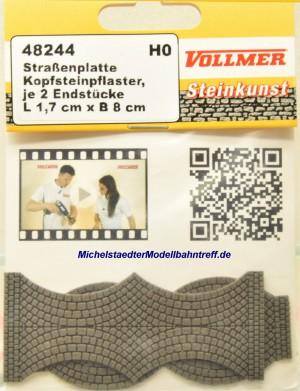(Neu) Vollmer 48244 Straßenplatte Kopfsteinpflaster, Steinkunst,