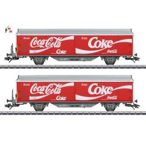 """(Neu) Märklin 48344 Schiebewandwagen-Set, """"Coca Cola"""", Ep. IV,"""