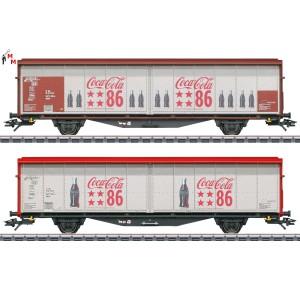 """(Neu) Märklin 48345 Schiebewandwagen-Set, """"Coca Cola"""", Ep. VI,"""