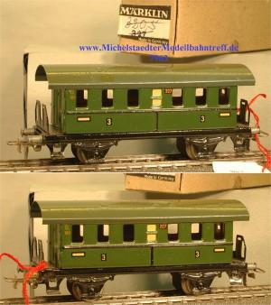 Märklin 327K.5 Personenwagen 2 Achsen grün, (7963)