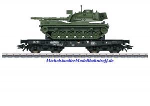 (Neu) Märklin 48796 Schwerlast-Flachwagen mit Kampfpanzer, DB, Ep.IV,