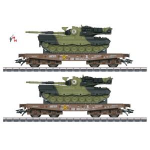 (Neu) Märklin 48842 Schwerlastwagen-Set der DSB, mit 2 Leo,Ep.V,