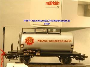 """Märklin 4928.1 Kesselwagen SJ """"Melass Sockerbolaget"""", (8500)"""