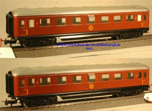 Märklin 4020 D-Zug-Schürzenwagen der SJ, (7993)