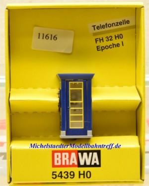 Brawa 5439 H0 Telefonzelle, beleuchtet, (11616)