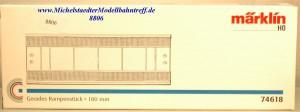 (Neu) Märklin 74618 Gerades Rampenstück 180mm,