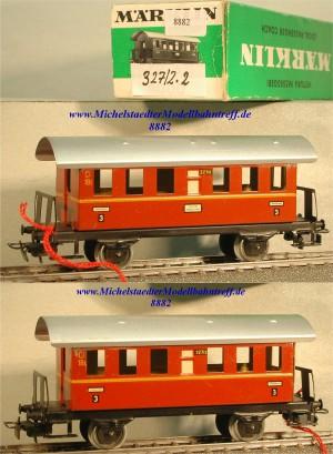 Märklin 327/2.2 Personenwagen braunrot, 3.Kl., (8882)