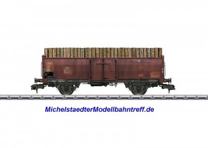 (Neu) Märklin 58307 Offener Güterwagen mit Holzbeladung, Ep.III,