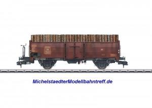 (Neu) Märklin 58308 Offener Güterwagen mit Holzbeladung, Ep.III,