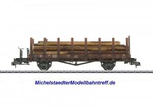 (Neu) Märklin 58385 Rungenwagen, DB, Ep.III,