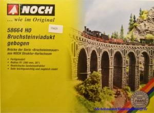 Noch 58664 H0 Bruchsteinviadukt, gebogen, (11625)