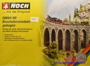 Noch 58664 H0 Bruchsteinviadukt, gebogen, (11635)