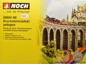 Noch 58664 H0 Bruchsteinviadukt, gebogen, (11645)