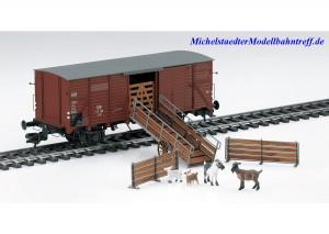 (Neu) Märklin 58945 Spur 1 Viehtransportwagen G 10 der DB, Ep.III,