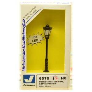 (Neu) Viessmann 6070 Parklaterne, LED warmweiß,