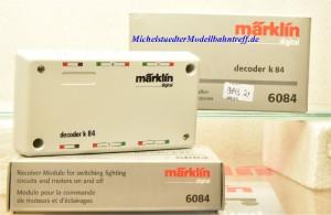 Märklin 6084 Decoder K84, Schalten von Beleuchtungen und Motoren, (9843)