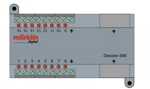 (Neu) Märklin 60882 Decoder s88 DC,