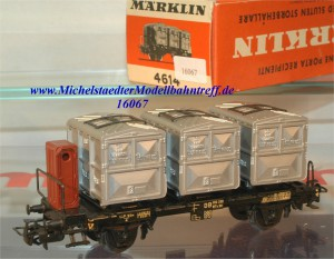 Märklin 4614.1 Behältertragwagen der DB, (16067)