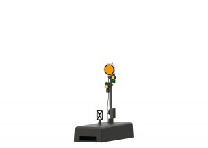 (Neu) Märklin 70362 Form-Vorsignal mit grauem Mast,