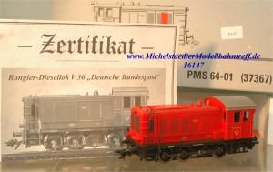 """Märklin -PMS- 37367 Diesellok V 36 """"Dt. Bundespost"""", (16147)"""
