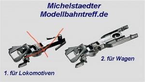 (Neu) Märklin 7205.2 Kupplung für Märklin Wagen,