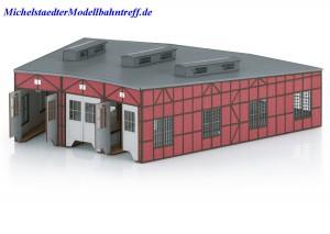 (Neu) Märklin 72886 Bausatz Lokomotivschuppen,