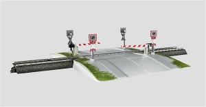 (Neu) Märklin 74924 Bahnübergang eingleisig,