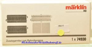 Märklin 74930 Zusatzgarnitur zum Bahnübergang 74923, (9631),
