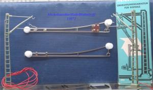Märklin 7505 Oberleitungsgarnitur für Signale, (13072)