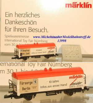 Märklin 8S2003 Spielwarenmesse 2003, (13998)