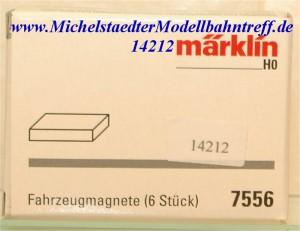 (Neu) Märklin 7556 Fahrzeugmagnete (6 Stück),