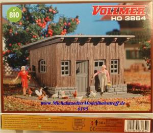 """(Neu) Vollmer 3864 H0 Bausatz """"Hühnerstall"""", (6195)"""