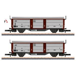 (Neu) Märklin Spur Z 82153 Wagenset Schiebedach-/Wandwagen, DB, Ep.III,