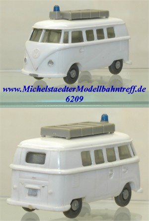 "Wiking 320/12A VW ""Rotkreuz Bus"", Kl. Heckfenster, (6209)"